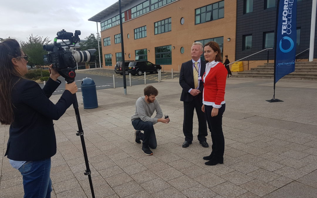 Minister Meeting atThe Marches Growth Hub Telford & Lucy Allen MP Briefing at Telford College29thAugust 2018